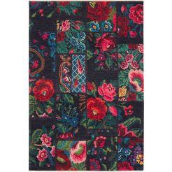 nouristan vloerkleed »kelim patchwork dolnar« multicolor