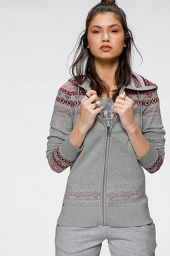kangaroos jacquardvest in noors design grijs