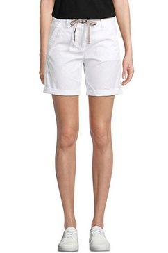 tom tailor bermuda met bijpassend gedessineerd bindceintuur (met een bindceintuur) wit