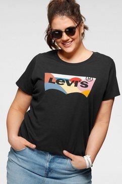 levi's shirt met ronde hals »the perfect tee« zwart