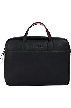 tommy hilfiger messengerbag essential pu computer bag met gewatteerd laptopvak zwart