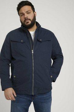 tom tailor men plus bikerjack blauw