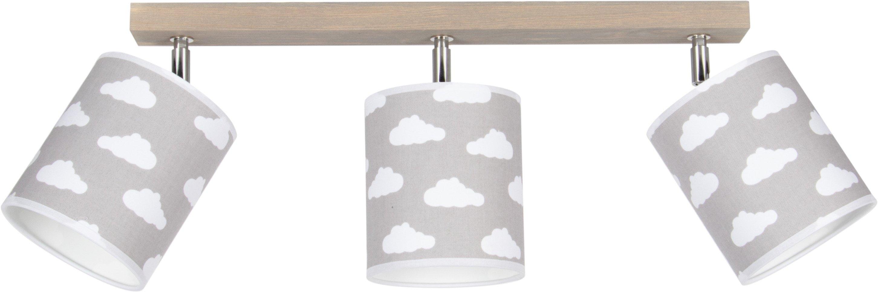 Lüttenhütt plafondlamp Fiete van massief hout, duurzaam met fsc®-certificaat, textielen kappen, bijpassende lm e27/exclusief, made in europe (1 stuk) - verschillende betaalmethodes