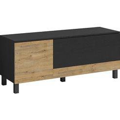 trendmanufaktur tv-meubel »square dance« zwart