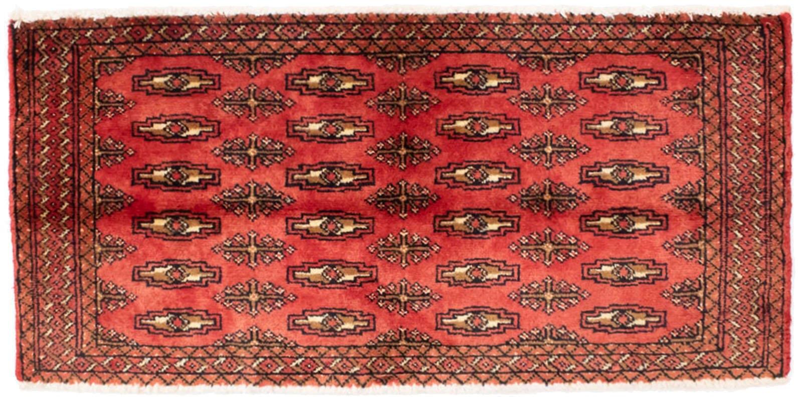 morgenland wollen kleed Turkaman vloerkleed met de hand geknoopt rood veilig op otto.nl kopen