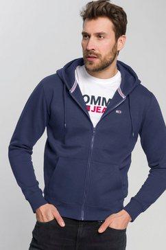 tommy jeans capuchonsweatvest tjm regular fleece zip hoodie blauw