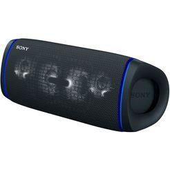sony bluetoothluidspreker srs-xb43 draagbare, draadloze meerkleurige lichtstrook, luidsprekerverlichting, waterafstotend, extra bas zwart