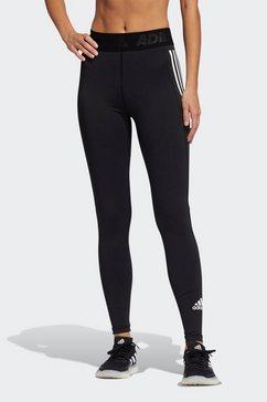 adidas performance functionele tights »techfit 3-streifen lange« zwart