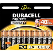 duracell »plus power« batterij zwart
