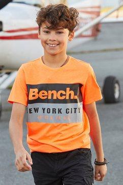 bench. t-shirt »new york city« oranje