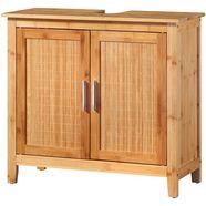 welltime wastafelonderkast »bambus« beige