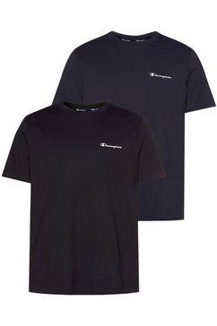 champion t-shirt (set, set van 2) blauw