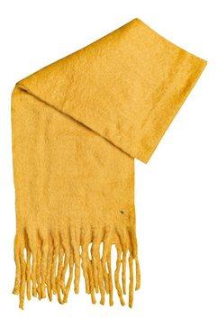 roxy fleece-sjaal hello sweet heart geel