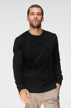 jack  jones sweatshirt »circle flock sweat« zwart