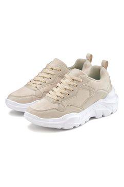lascana sneakers met ultralichte chunky-zool en zachte binnenzool beige