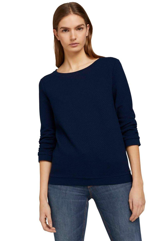Tom Tailor Denim sweatshirt bijzonder structuurmotief goedkoop op otto.nl kopen