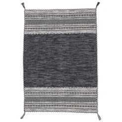carpetfine wollen kleed »kelim azizi«, carpetfine, rechthoekig, hoogte 5 mm, handgeweven zwart