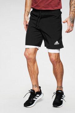 adidas performance 2-in-1-short »at short« zwart