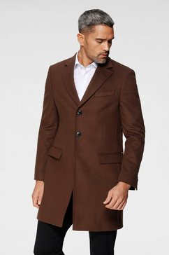 tommy hilfiger tailored wollen jas »wool blend coat« bruin
