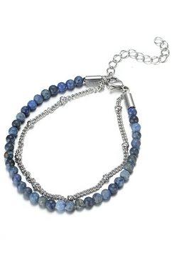 firetti enkelkettinkje »mehrreihig, glaenzendes design, massiv« blauw