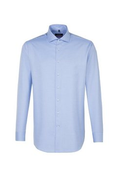 seidensticker businessoverhemd regular regular lange mouwen kentkraag uni blauw