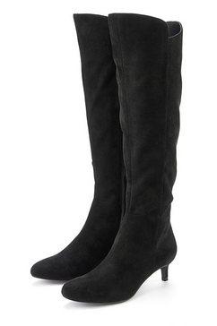 lascana laarzen met lange schacht van zachte imitatiesuède zwart