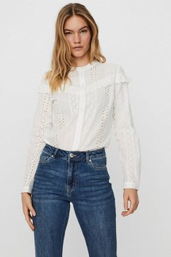 vero moda kanten blouse vmnora in boho-look wit