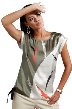 creation l blouse zonder sluiting beige