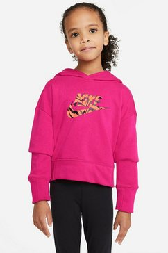 nike sportswear hoodie nike sportswear big kids' cropped hoodie paars