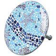 sanilo badkuipstop mosaic world ø 7,2 cm blauw