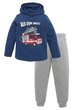 kidsworld shirt met lange mouwen  broek (set, 2-delig) blauw