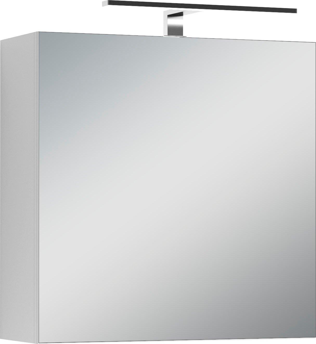Homexperts spiegelkast Salsa Breedte 60 cm, met ledverlichting & schakelaar-/stekkerdoos online kopen op otto.nl