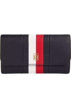 tommy hilfiger portemonnee th essence lrg flap wallet corp in praktisch formaat blauw