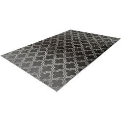 calo-deluxe vloerkleed latemar 200 relifstructuur, woonkamer grijs