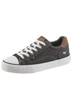 mustang shoes plateausneakers met contrastbeleg bij de hiel zwart