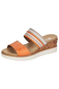 remonte slippers met uitneembaar voetbed oranje