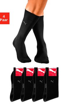 puma basic sokken (set van 4 paar) zwart