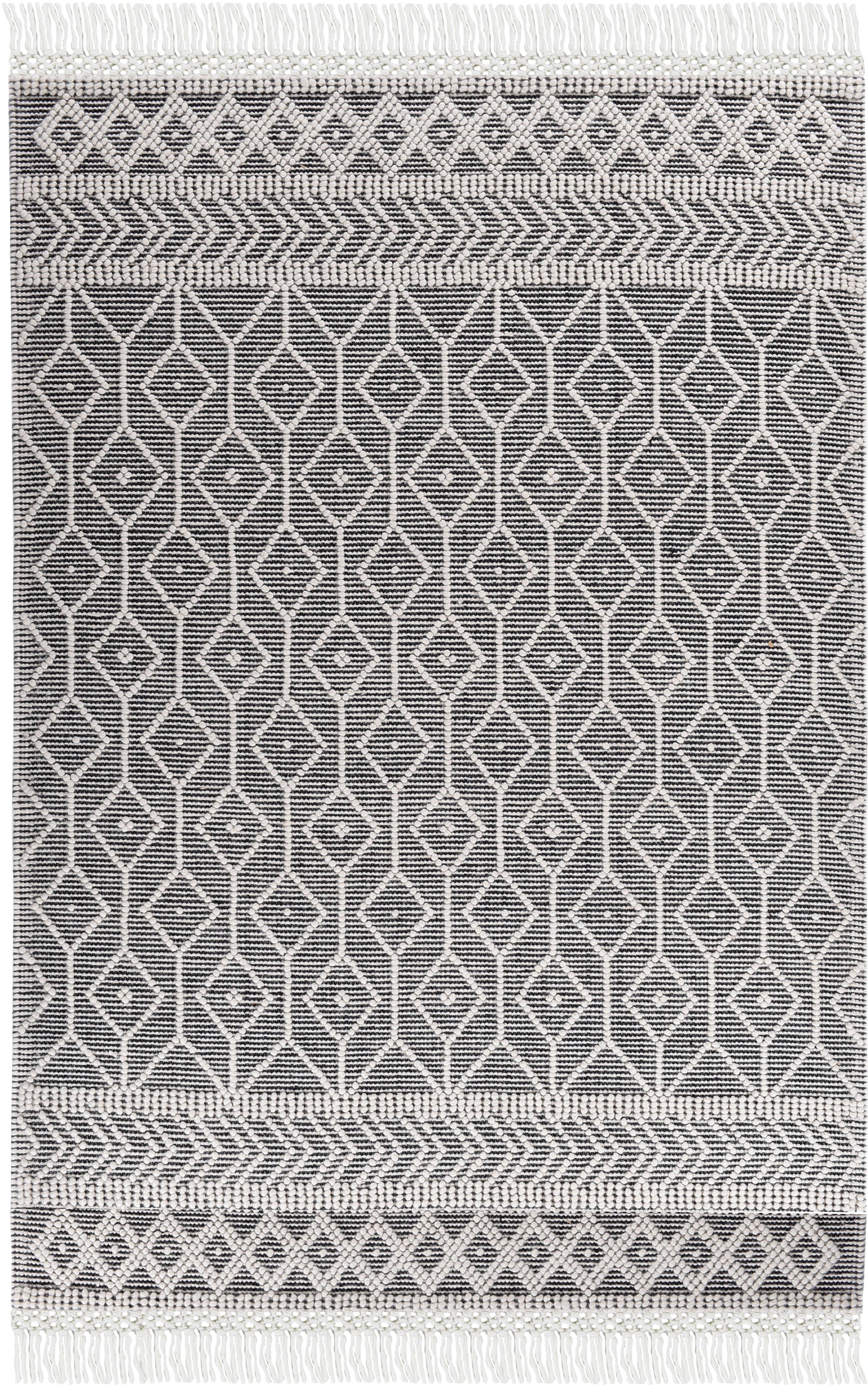 Tom Tailor vloerkleed Coloured Macrame zuivere wol, met de hand geweven, met franje, geschikt voor binnen en buiten, woonkamer voordelig en veilig online kopen