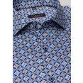 eterna businessoverhemd modern fit lange mouwen blauw