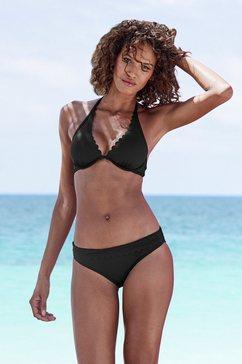 lascana bikinitop met beugel »scallop« zwart