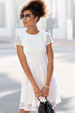 lascana kanten jurk van fijne kant wit