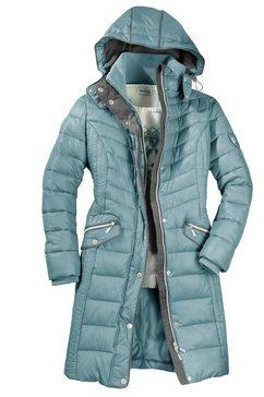 casual looks doorgestikte jas blauw
