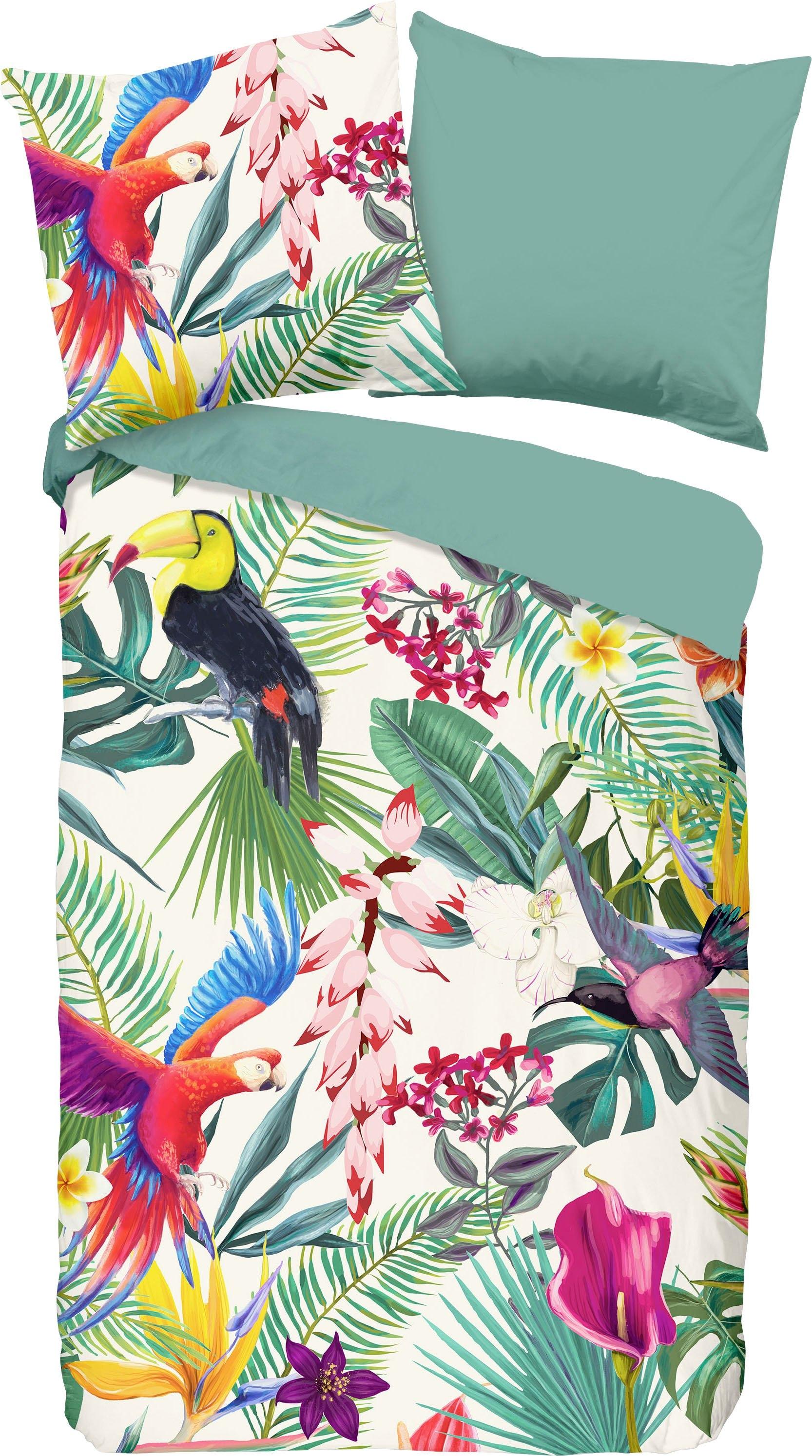 good morning tweezijdig te gebruiken overtrekset Suerte met papegaaien (2-delig) in de webshop van OTTO kopen