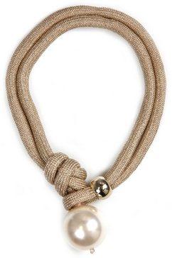 j.jayz collier elegant, opvallend, in meerrijige stijl met acrylkraal goud