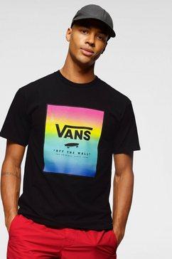 vans t-shirt »classic print box« zwart
