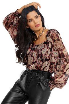 ashley brooke by heine gedessineerde blouse zwart