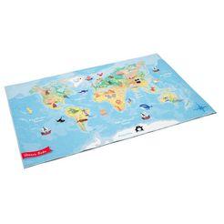boeing carpet vloerkleed voor de kinderkamer wereldkaart gedessineerd, wasbaar, kinderkamer multicolor