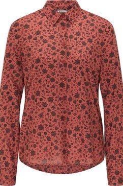 mustang blouse met lange mouwen emma kc aop rood