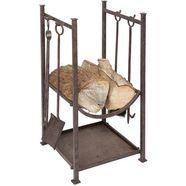 ambiente haus haardstel haardset voor hout 75 cm (1 stuk) bruin
