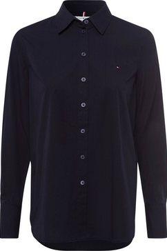 tommy hilfiger blouse zonder sluiting »cot pop monica gf shirt ls« blauw
